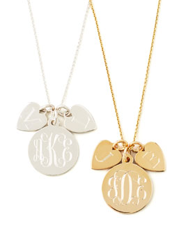 Sarah Chloe Sonya Layered Letter & Monogram Necklace