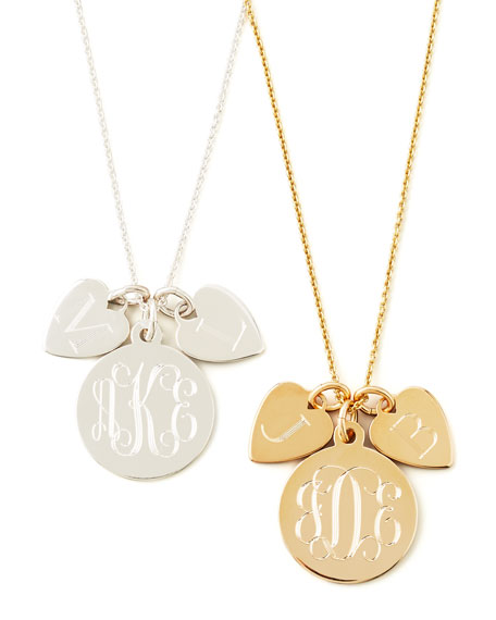 Sarah ChloeSonya Layered Letter & Monogram Necklace, Silver