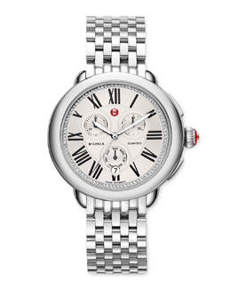 MICHELE Serein Diamond-Dial Watch Head & Stainless Steel Bracelet Strap