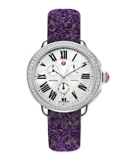 MICHELE Serein Glamour Diamond Watch Head & Glitter Watch Strap
