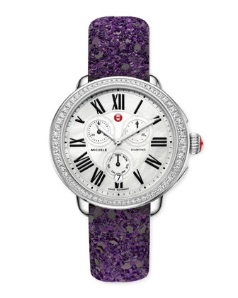 Serein Glamour Diamond Watch Head & Glitter Watch Strap