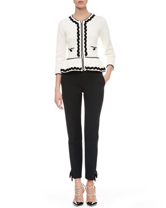 Ric-Rac Peplum Jacket and Tech Cady Bow Ankle Pants