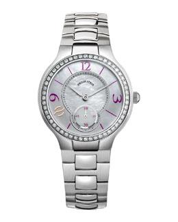 Philip Stein Small Round Diamond Watch Head & Stainless Steel Bracelet
