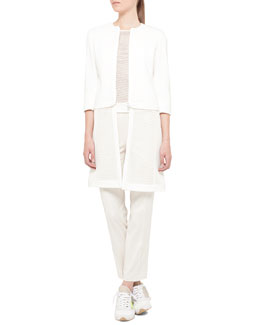 Akris punto Convertible Mesh-Bottom Jacket and Sleeveless Mesh-Front Top