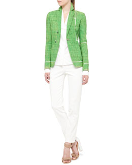 Akris punto Soccer Field Snap Blazer and Techno-Cotton Pants