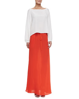 Alexis Anna Bel Blouse & Matte Maxi Skirt with Drawstring Waist