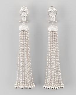 Forevermark Maria Canale for Forevermark Swing Diamond and Gold Ball Tassel Earrings