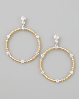 Forevermark Maria Canale for Forevermark Swing Diamond Gold Ball Hoop Earrings