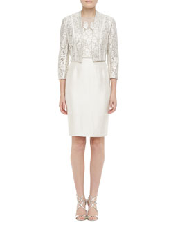 Kay Unger New York 3/4-Sleeve Lace Bolero & Lace Cocktail Dress
