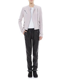 A.L.C. Malto Cotton Jacket, Cotton Muscle Tank & Tony Drawstring Leather Pants