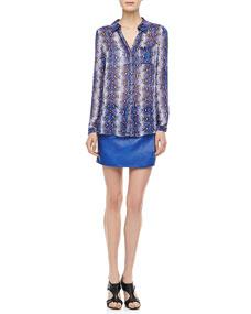 f038ab4392dc81 Diane von Furstenberg Lorelei Python Print Blouse   Liam Skirt