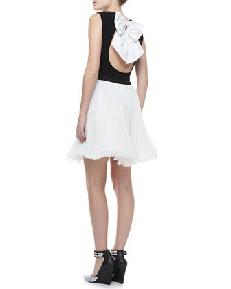 Belle Bow-Back Top & Shea Pleated Chiffon Skirt