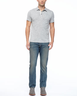 Rag & Bone Moulinex Short-Sleeved Polo & Indigo Wash Denim Jeans