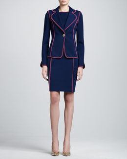 St. John Collection Milano Fitted Blazer & Bateau-Neck Dress