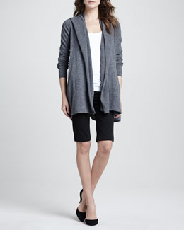 Vince Cashmere Open-Front Cardigan, Ribbed Favorite Tank & Side-Buckle Bermuda Shorts