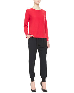 Joie Moselle Long-Sleeve Sweater & Mariner Pull-On Pants