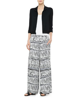 Rachel Pally Fletcher Zip-Front Jacket & Grady Printed Wide-Leg Pants