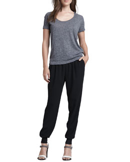 Joie Caesar Short-Sleeve T-Shirt & Mariner Pull-On Pants