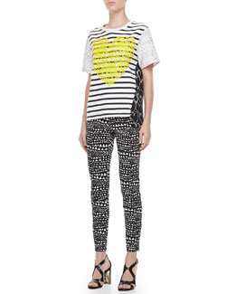 Stella McCartney Stripe and Heart Tee & Heart-Print Jeans