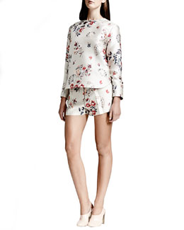 Stella McCartney Wildflower Jacquard Top & Wildflower Jacquard Shorts