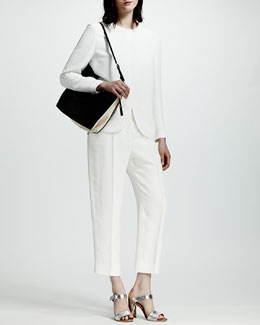 Stella McCartney Python Jacquard Tulip-Hem Top & Pants