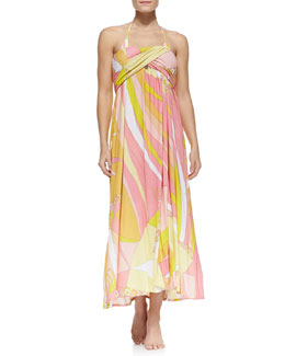 Emilio Pucci Fence-Print Skirt Strapless Dress & String Bikini