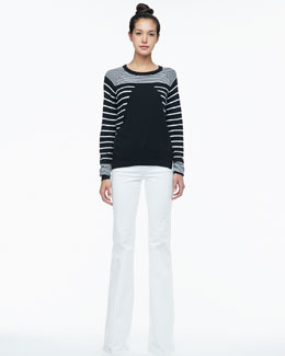 Rachel Zoe Grayson Striped Knit Sweater & Rachel Corduroy Flare Jeans
