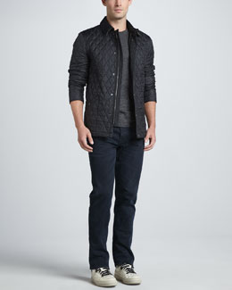 Burberry Brit Roden Quilted Jacket, Short-Sleeve Logo Tee & Slim-Fit Denim Jeans