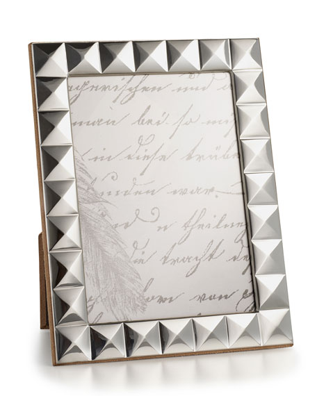 "Sterling Silver Pyramid 5"" x 7"" Picture Frame"