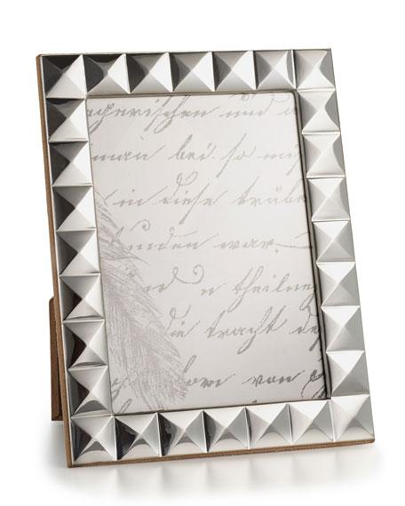 "Sterling Silver Pyramid 5"" x 7"" Frame"