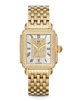 MICHELE Deco Diamond Watch Head & Bracelet Strap