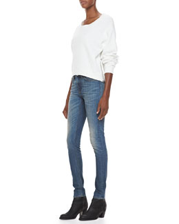 Acne Studios Cotton Fleece Sweatshirt & Skinny Denim Jeans