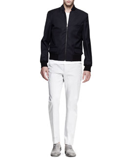 Maison Martin Margiela Reversible Zip Blouson Coat, Crewneck Tee & Slim-Fit Trousers