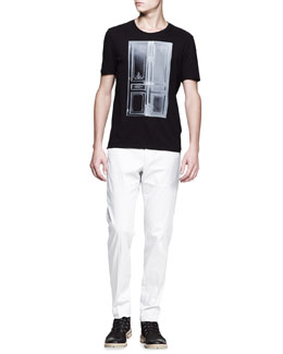 Maison Martin Margiela Door-Print Tee & Slim-Fit Trousers