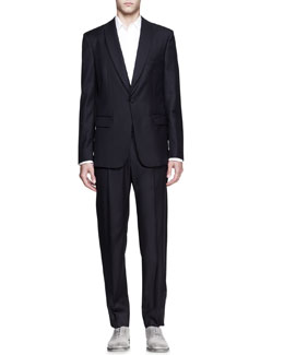 Maison Martin Margiela Layered Evening Jacket, Faux-Pocket Long-Sleeve Shirt & Tuxedo Pant with Side Stripe