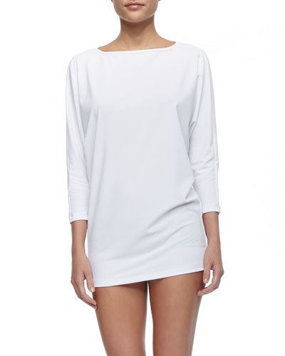 UPF 50 Long Relaxed Swim Coverup & Hipster Swim Bottom