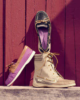 Sperry Top-Sider Boat Shoes & Sparkle Hiker