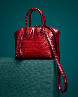 Nancy Gonzalez Crocodile Tote & Bowler Bag