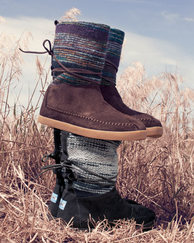 TOMS Striped Suede Nomad Boot