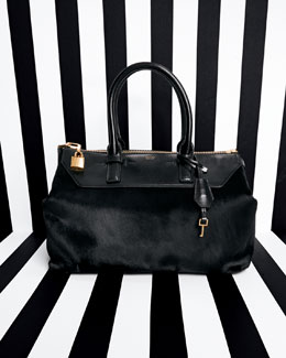 Tom Ford Petra Calf Hair Satchel & Tote