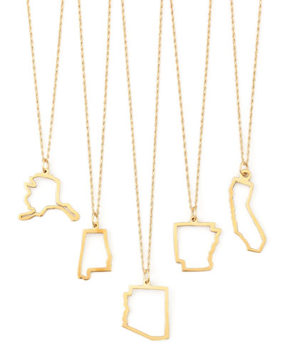 14k Gold State Necklaces