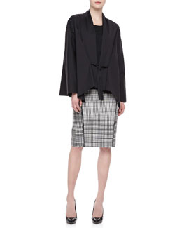 Lafayette 148 New York Glenna Tie-Front Topper, Sleeveless Tank & Ariella Art Deco Skirt