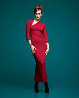 Melissa Masse Millennium Asymmetric Long Dress