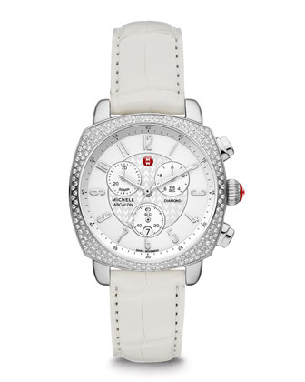 ASC Ascalon Diamond Chronograph Watch Head & 18mm Gator Strap