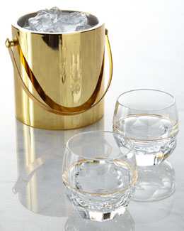 Waterford Crystal Elysian Ice Bucket & Rocks Glasses
