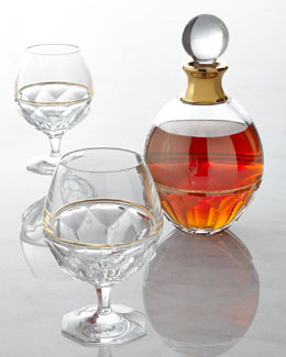 Waterford Crystal Elysian Brandy Glasses and Decanter