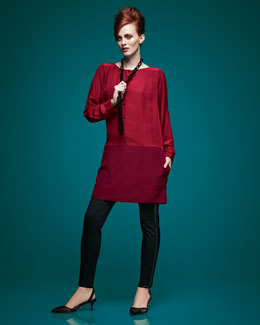 Eileen Fisher Colorblock Tunic & Skinny  Pants