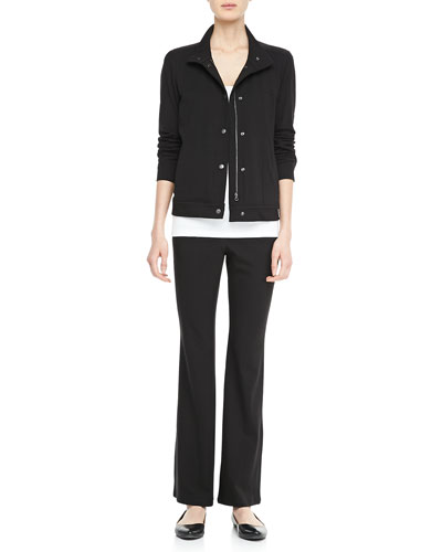 Eileen Fisher Jersey Zip-Front Jacket, Slim Tank & Jersey Yoga Pants