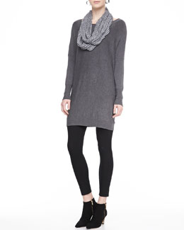 Eileen Fisher Long Cozy Viscose-Stretch Tunic, Zigzag Infinity Scarf & Viscose Jersey Leggings