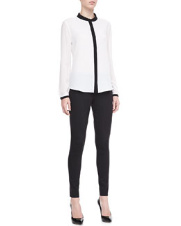 T Tahari Tammy Georgette Long-Sleeve Blouse & Giada Tapered Leg Pants